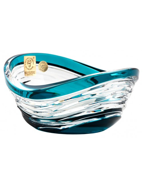 Ciotola Poem, cristallo, colore azzurro, diametro 120 mm