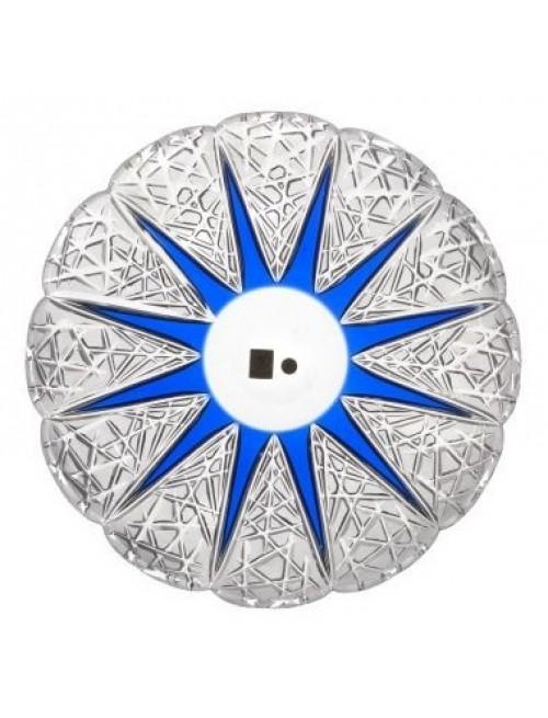 Piatto Flowerbud, cristallo, colore blu, diametro 300 mm