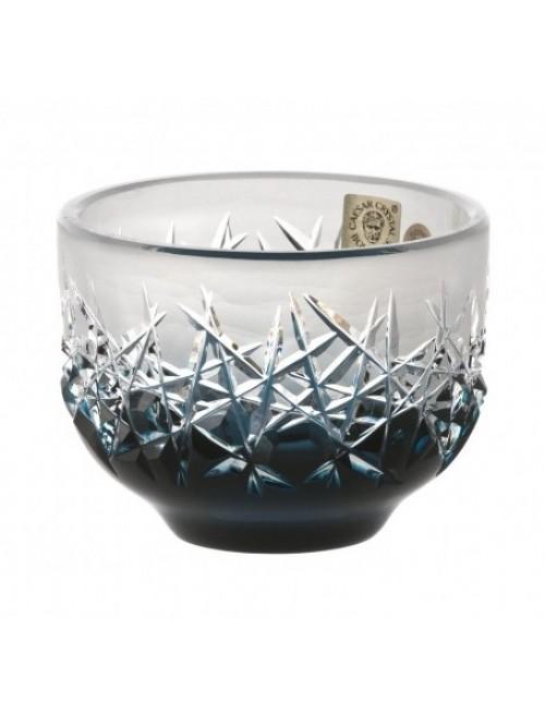 Ciotola Hoarforst, cristallo, colore azzurro, diametro 95 mm