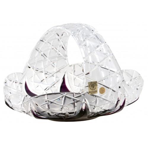 Cesto Flowerbud, cristallo, colore viola, diametro 230 mm
