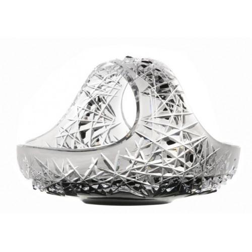 Cesto Hoarfrost, cristallo, colore nero, diametro 230 mm