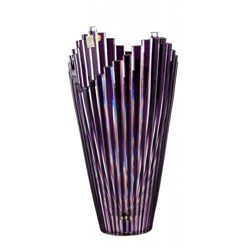 Vaso Mikado, cristallo, colore viola, altezza 310 mm