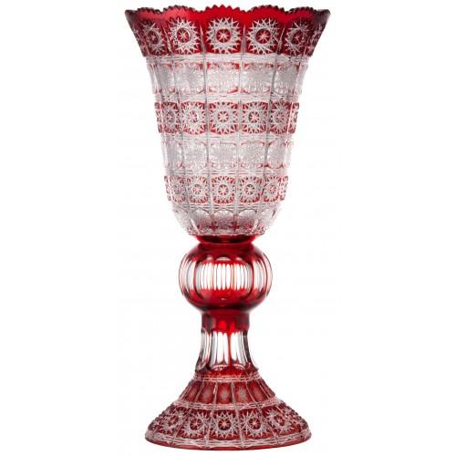 Vaso Paula, cristallo, colore rosso, altezza 505 mm