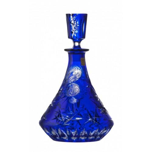 Bottiglia Thistle, cristallo, colore blu, volume 800 ml