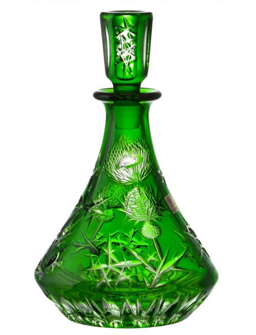Bottiglia Thistle, cristallo, colore verde, volume 800 ml