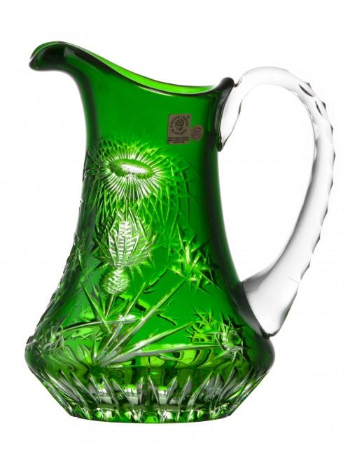 Brocca Thistle, cristallo, colore verde, volume 950 ml