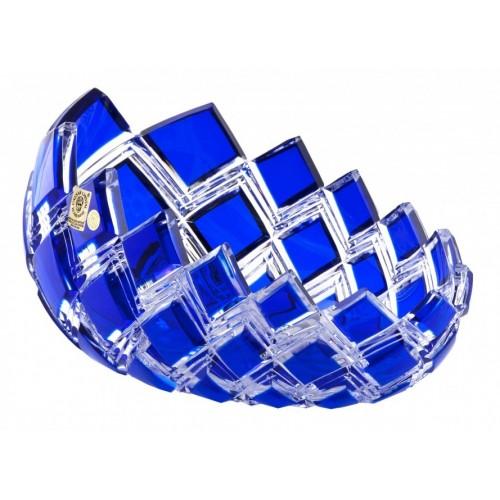 Insalatiera Harlequin, cristallo, colore blu, diametro 255 mm