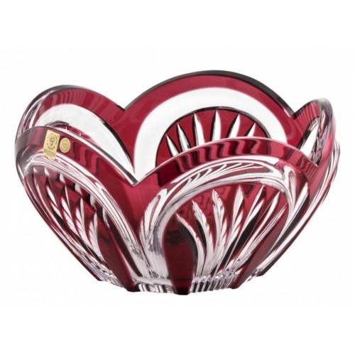 Insalatiera Fountain, cristallo, colore rosso, diametro 230 mm