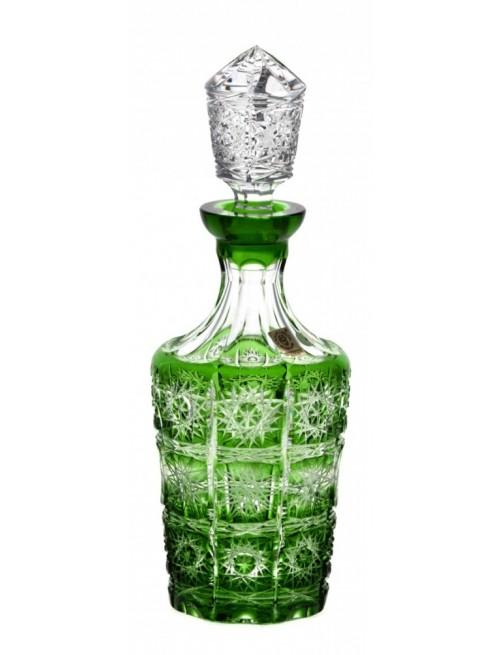 Bottiglia Paula, cristallo, colore verde, volume 600 ml