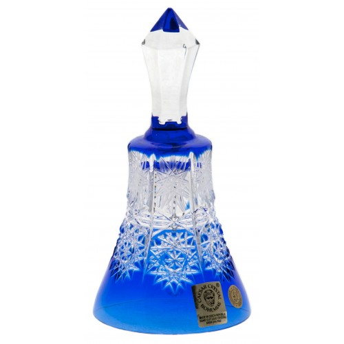 Campanella Paula, cristallo, colore blu, altezza 126 mm