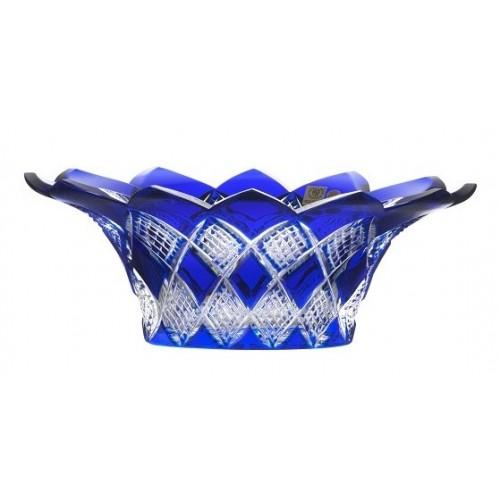 Insalatiera Colombine, cristallo, colore blu, diametro 300 mm