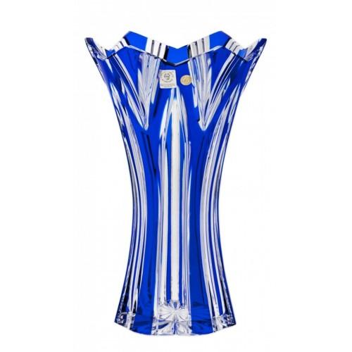 Vaso Lotos II, cristallo, colore blu, altezza 255 mm