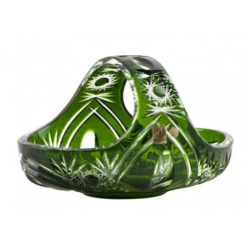 Cesto Ella, cristallo, colore verde, diametro 230 mm
