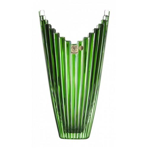 Vaso Mikado, cristallo, colore verde, altezza 270 mm