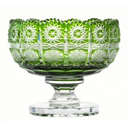 Portafrutta Paula, cristallo, colore verde, diametro 155 mm