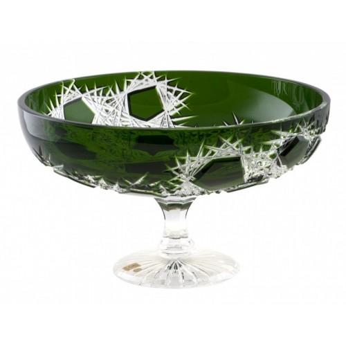 Portafrutta Frost, cristallo, colore verde, diametro 330 mm