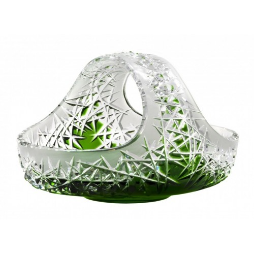 Cesto Hoarfrost, cristallo, colore verde, diametro 230 mm
