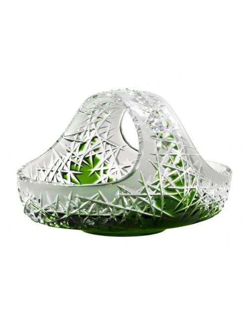 Cesto Hoarfrost, cristallo, colore verde, diametro 230 mm