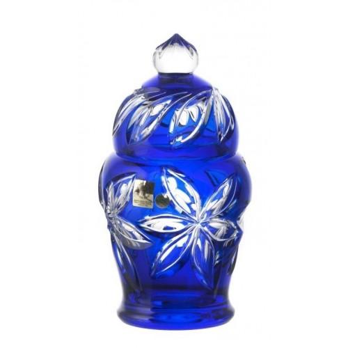 Confettiera Linda, cristallo, colore blu, altezza 200 mm