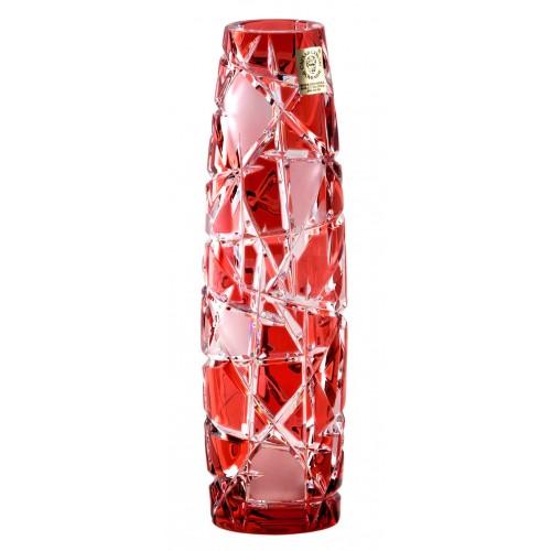 Vaso Mars, cristallo, colore rosso, altezza 200 mm
