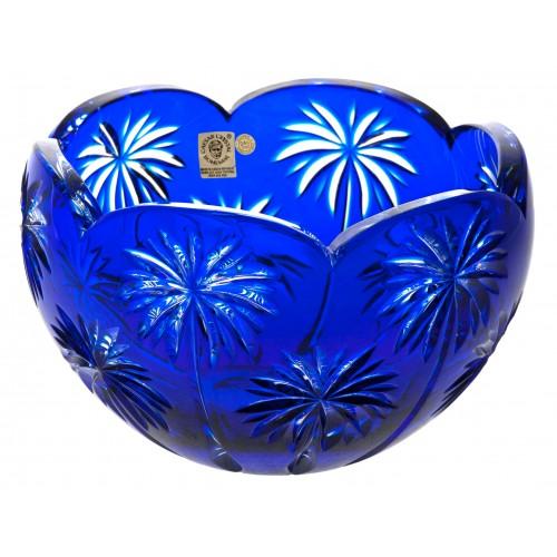 Insalatiera Palm, cristallo, colore blu, diametro 200 mm