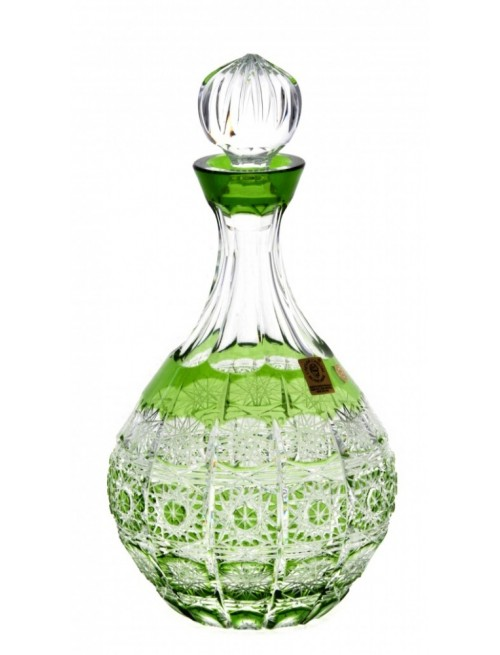 Bottiglia Paula, cristallo, colore verde, volume 500 ml