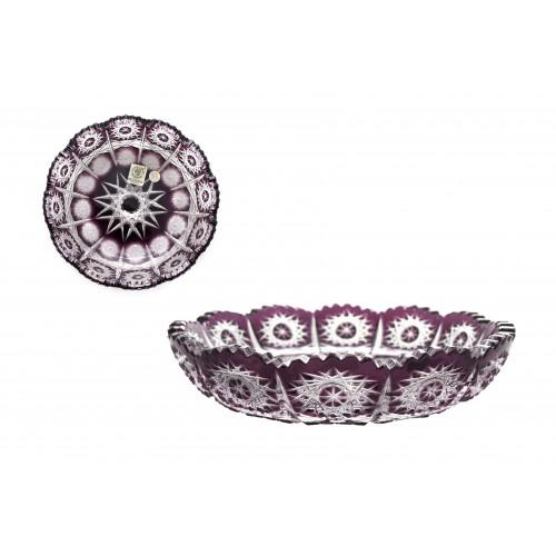 Piatto Paula, cristallo, colore viola, diametro 146 mm