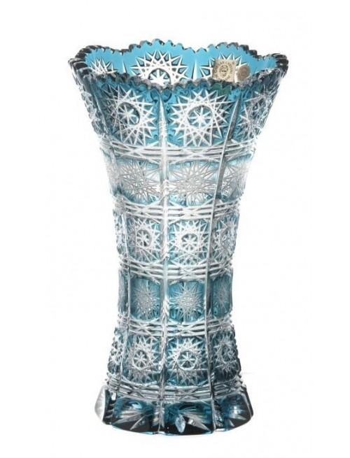 Vaso Paula II, cristallo, colore rosso, altezza 205 mm