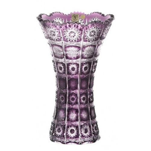 Vaso Paula, cristallo, colore viola, altezza 255 mm