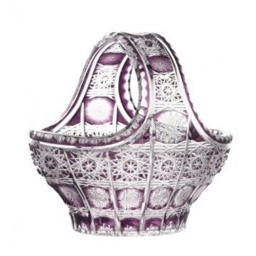 Cesto Petra, cristallo, colore viola, diametro 200 mm