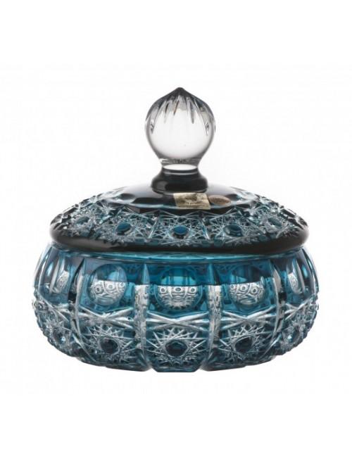 Confettiera Petra, cristallo, colore azzurro, altezza 128 mm