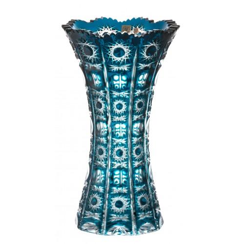 Vaso Petra, cristallo, colore azzurro, altezza 305 mm