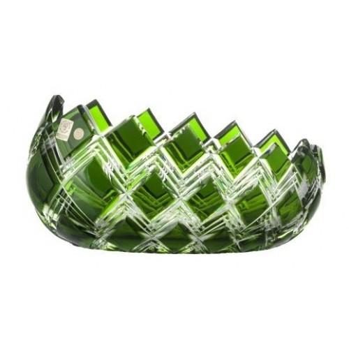 Insalatiera Harlequin, cristallo, colore verde, diametro 255 mm