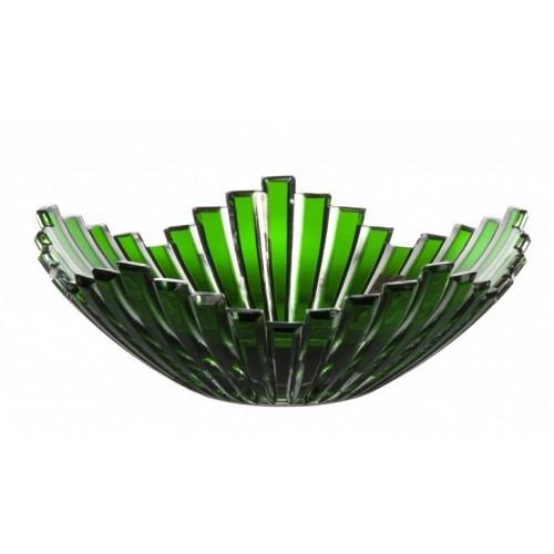 Insalatiera Mikado, cristallo, colore verde, diametro 230 mm