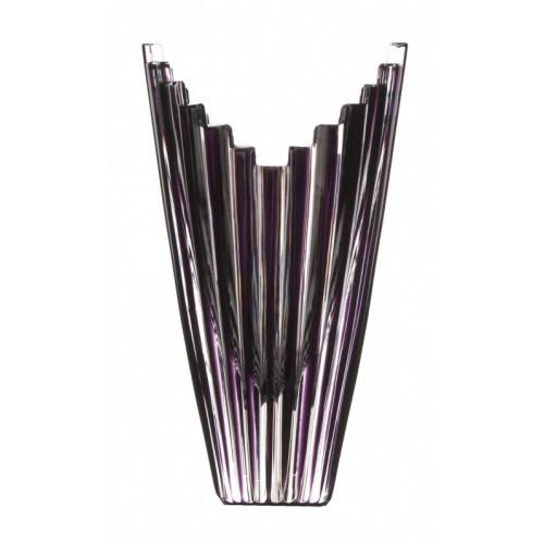 Vaso Mikado, cristallo, colore viola, altezza 155 mm