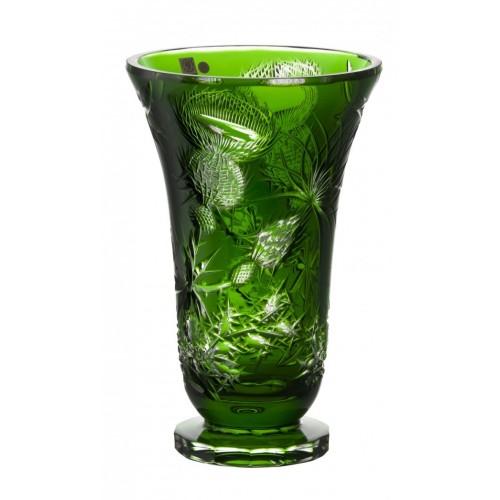 Vaso Thistle, cristallo, colore verde, diametro 305 mm