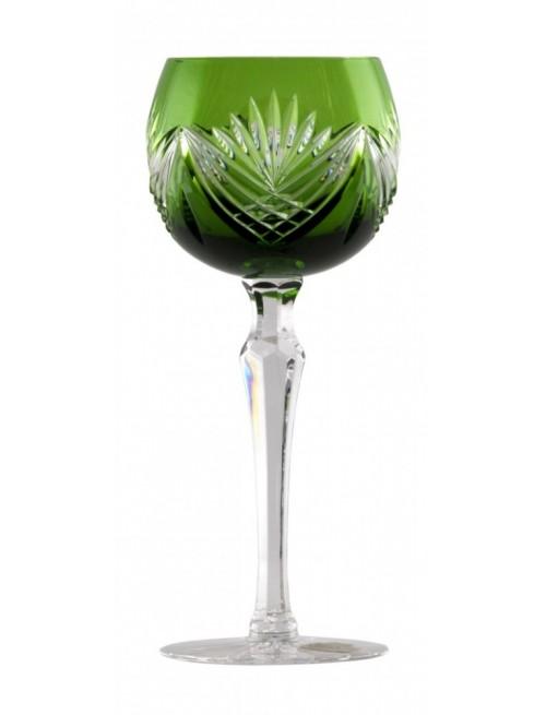 Bicchiere Janette, cristallo, colore verde, volume 190 ml