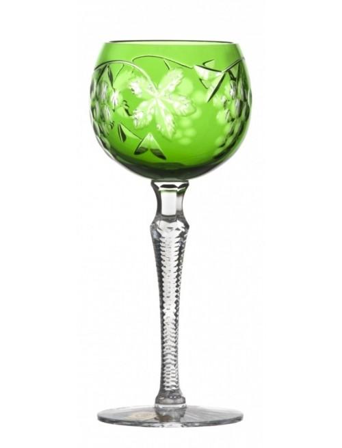 Bicchiere Grapes, cristallo, colore verde, volume 190 ml