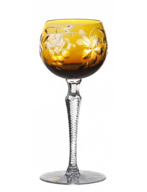 Bicchiere Grapes, crisallo, colore ambra, volume 190 ml