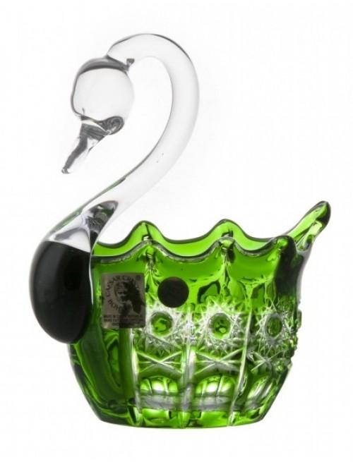 Cigno Petra, cristallo, colore verde, diametro 80 mm