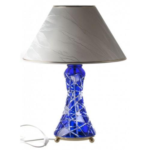 Lampada Mars, cristallo, colore blu, altezza 270 mm