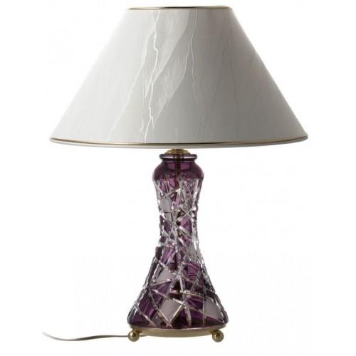 Lampada Mars, cristallo, colore viola, altezza 270 mm