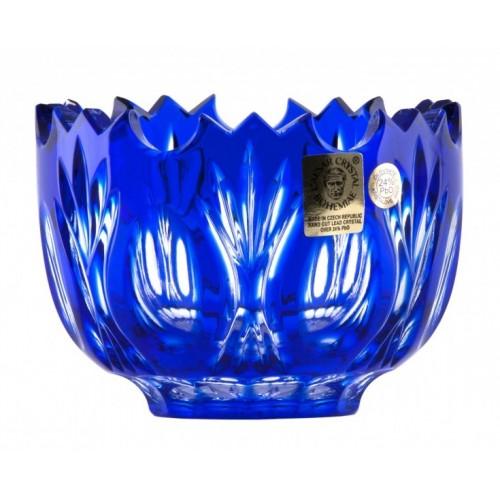 Ciotola Dandelion, cristallo, colore blu, diametro 95 mm