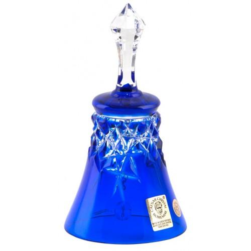 Campanella New Milenium, cristallo, colore blue, altezza 126 mm