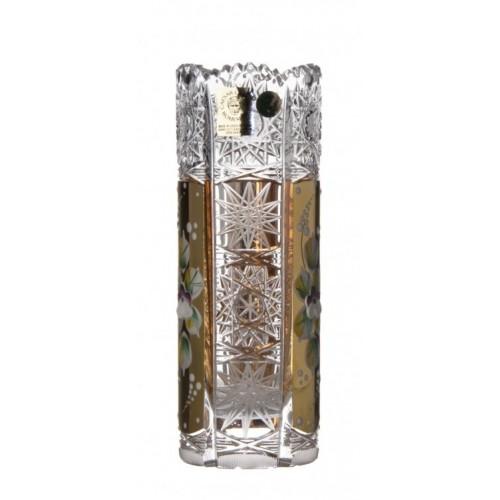 Vaso 500PK, cristallo trasparente dipinto oro, altezza 155 mm