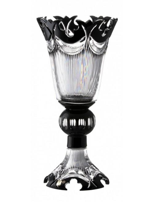 Vaso Diadem, cristallo, colore nero, altezza 505 mm