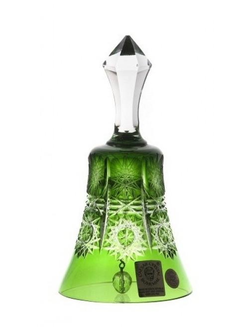 Campanella Paula, cristallo, colore verde, altezza 126 mm
