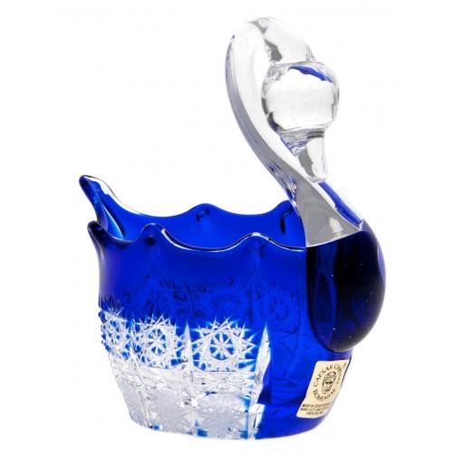 Cigno Paula, cristallo, colore blu, diametro 80 mm