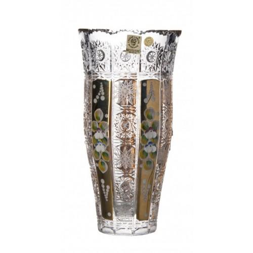 Vaso 500PK III, cristallo trasparente dipinto oro, altezza 205 mm