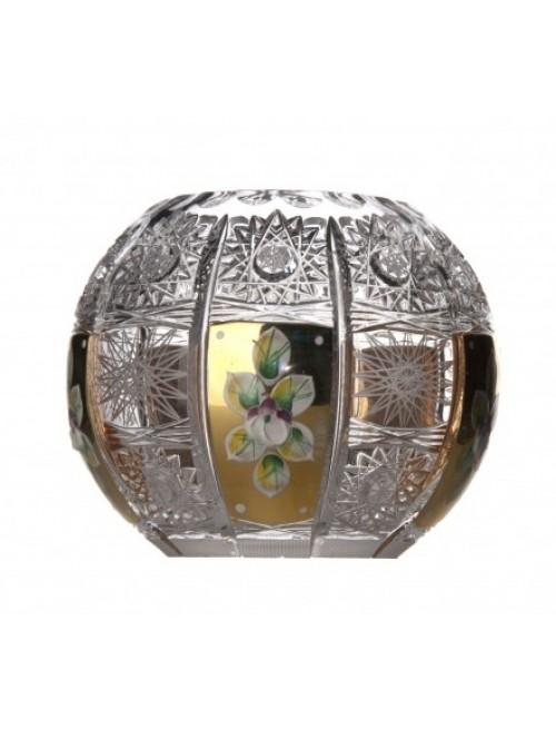 Vaso 500PK, cristallo trasparente dipinto oro, altezza 132 mm